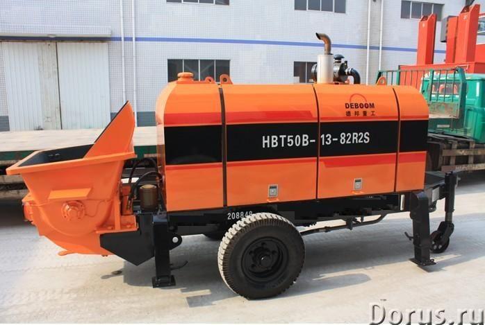 Бетононасос стационарный дизельный DEBOOM HBTS50-13-82B2R производительность 50 м3/час - Сельхоз и с..., фото 1