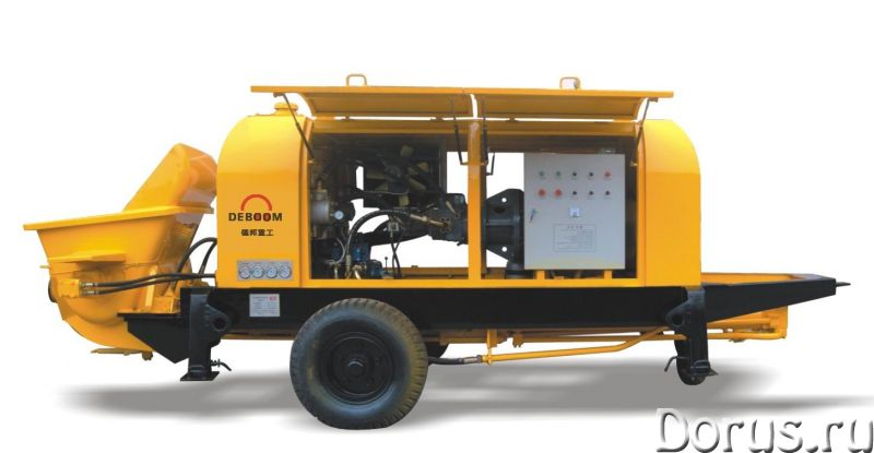 Бетононасос стационарный электрический DEBOOM HBTS90-13-110B - Сельхоз и спецтехника - Бетононасос с..., фото 1