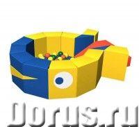 Бассейн детский Romana «Кит» сухой ДМФ МК-16.18.00 с шариками - Детские товары - Мякгие блоки соедин..., фото 1